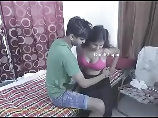 newly married indian teen couple on honeymoon