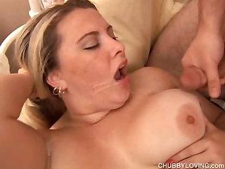Beautiful big tits blonde BBW boned