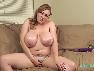big beautiful woman goldenhaired wench rubbing massive oily pointer sisters menacingmenacing PornDoe