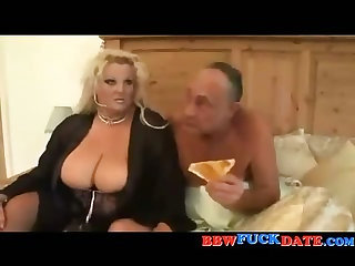 Charming blonde BBW gets fucked by her boss