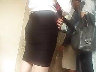 desi air hostess silky milky legs