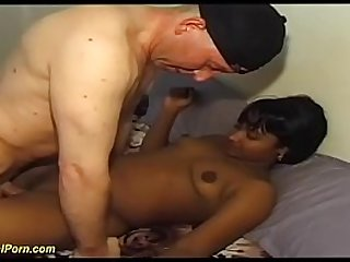cute desi indian chick enjoys her first interracial big dick fucking with a white sex tourist