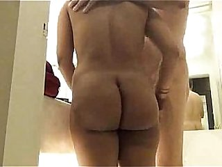 Big Ass Indian Aunty In Bathroom With Her Husband Sucking Fucking In Various Positions
