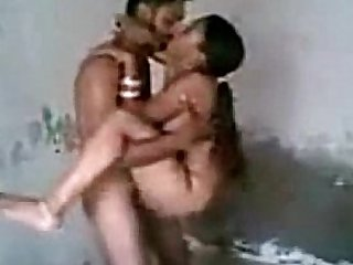 indian couple fuck standing